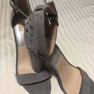 Dolce Vita Gray Studded Heels